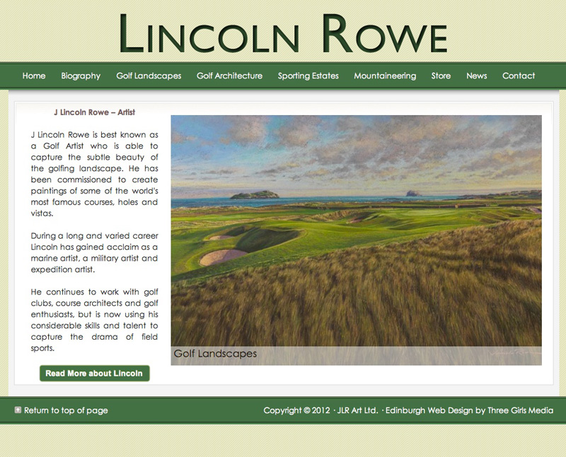Lincoln-Rowe-Golf-Artist---Edinburgh-Web-Design-by-Three-Girls-Media