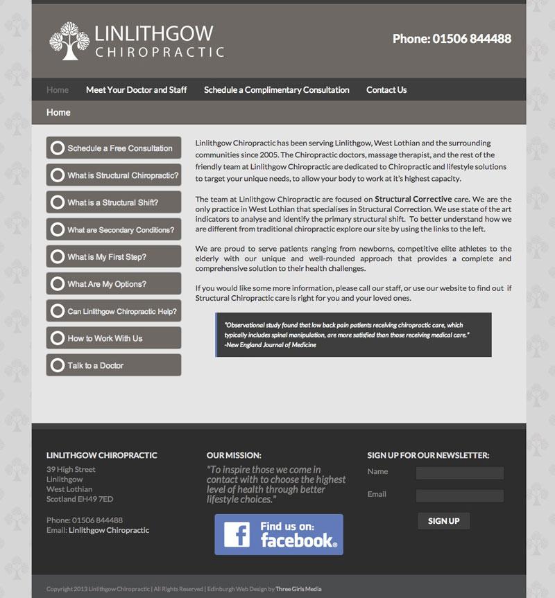 Linlithgow-Chiropractic-Website-Home