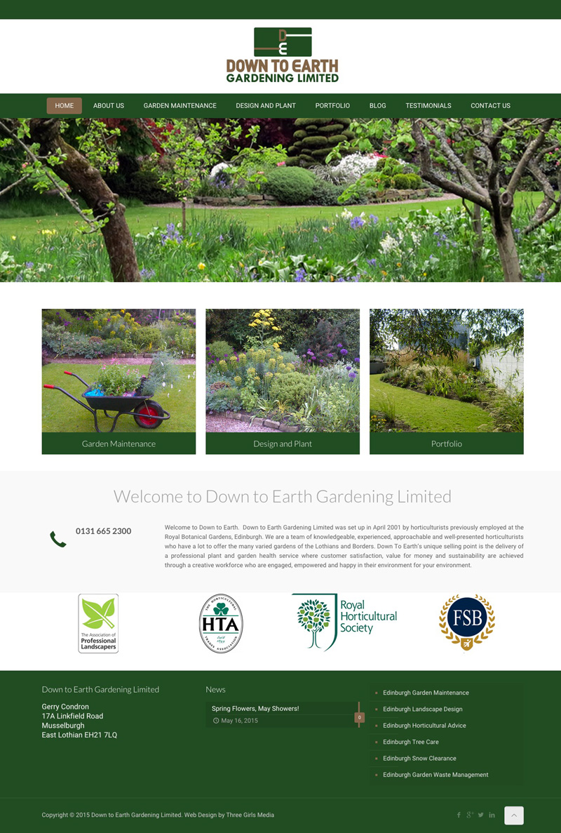 Garden Web Design Design Westerham Web Designthree Girls Media  Our Portfolio