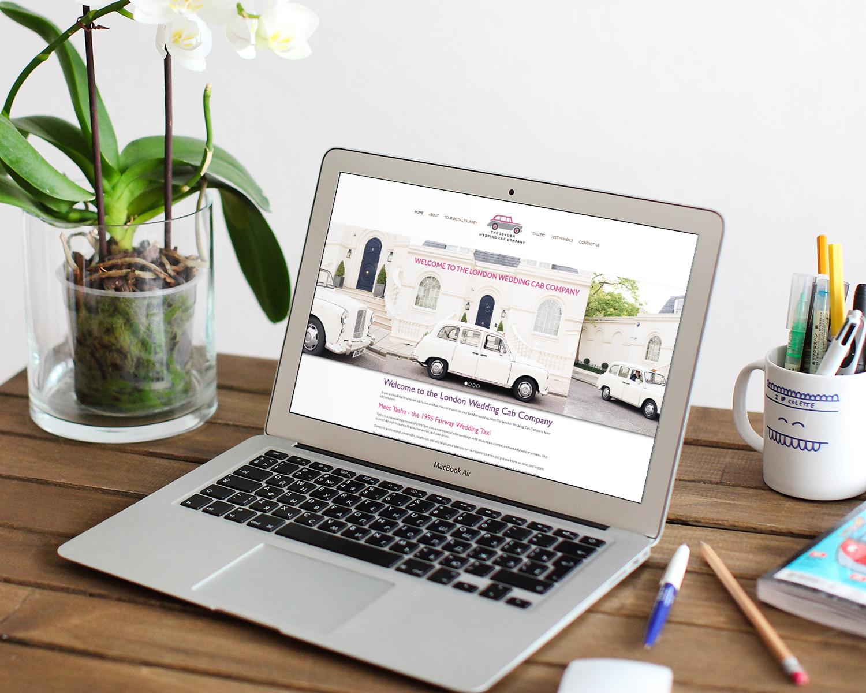 london-website-design-for-wedding-cab