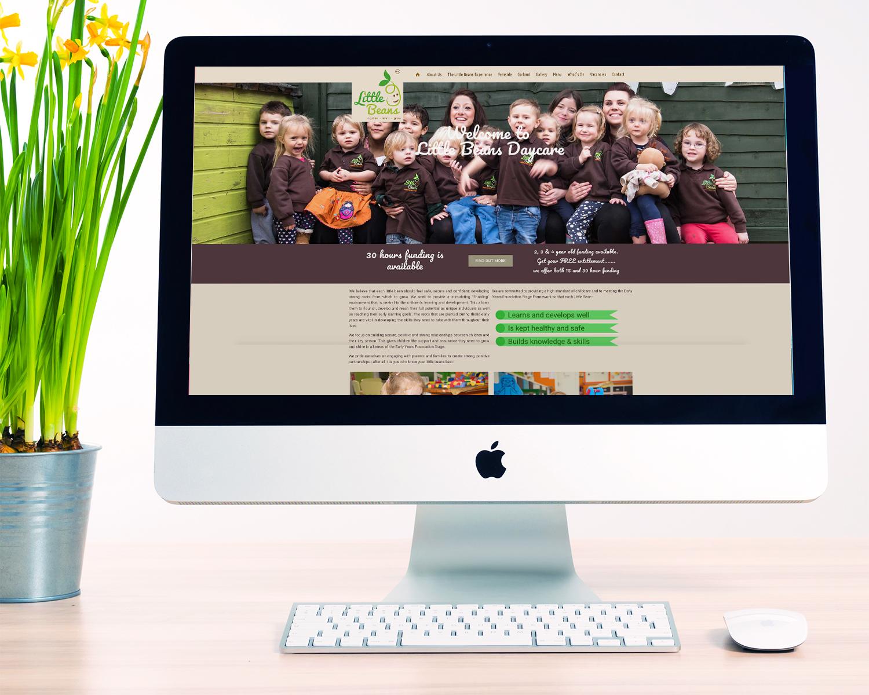 Nursery-Website-Design-for-Little-Beans-Daycare_Mockup_Home