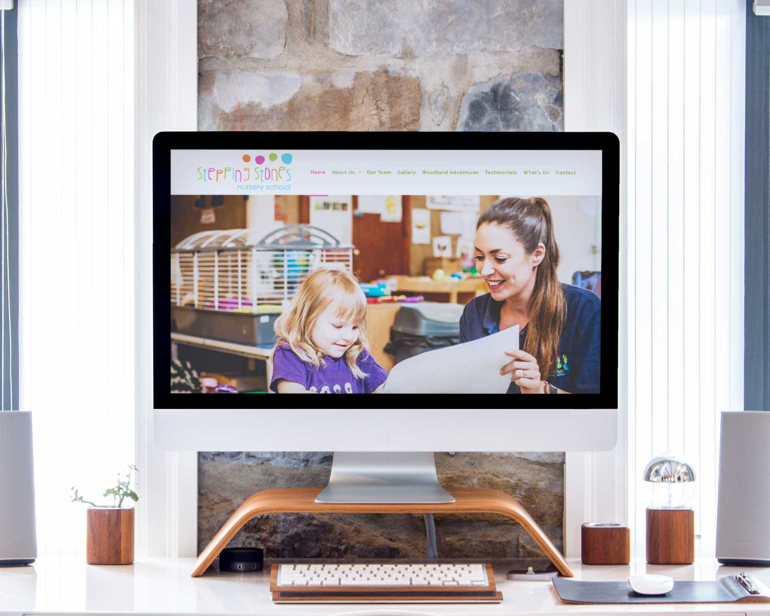 Nursery-School-Web-Design-for-Stepping-Stones-Nursery-by-Three-Girls-Media_Imac