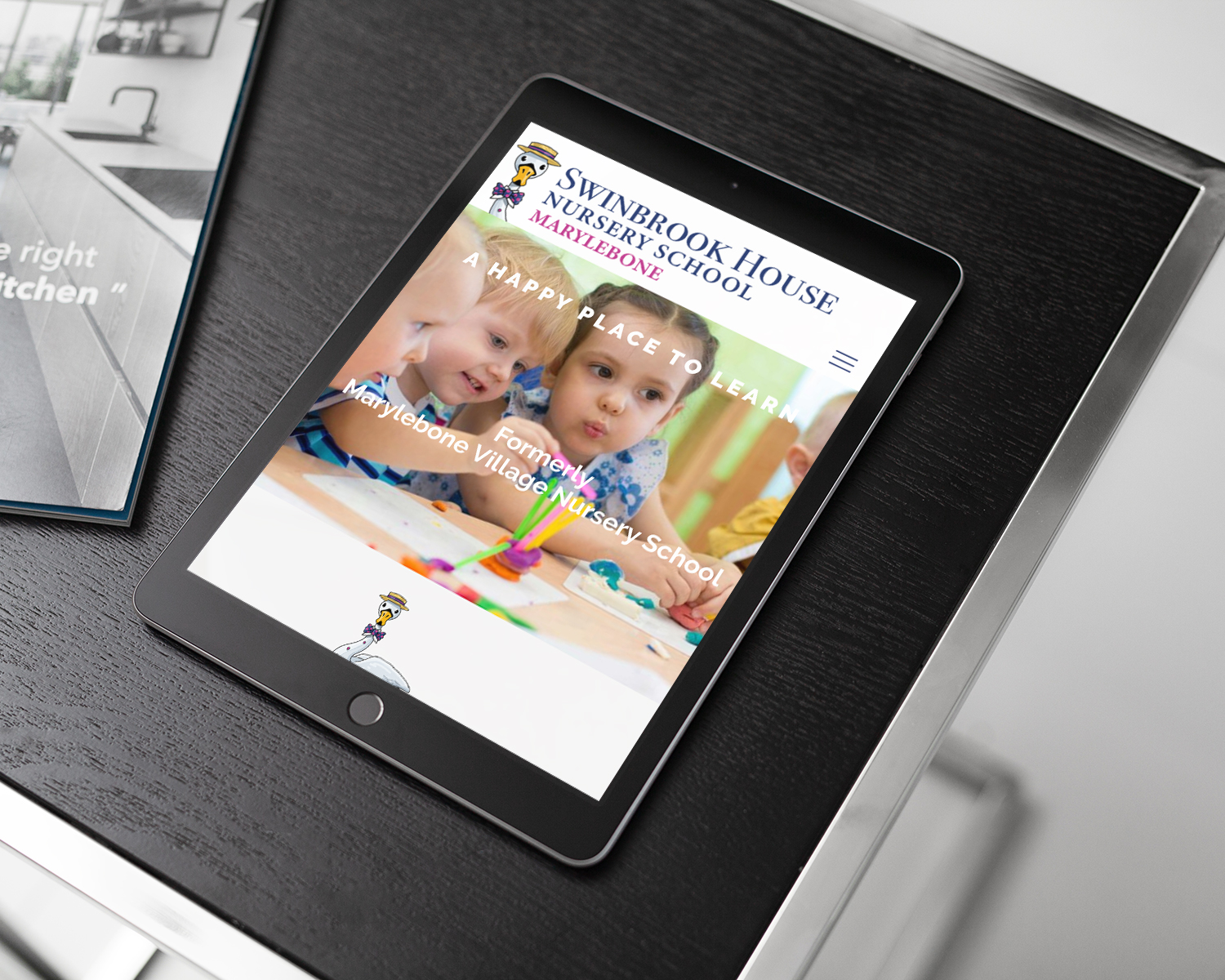 Nursery-School-Website-Design-for-Swinbrook-House-Nursery-School-by-Three-Girls-Media_ipad