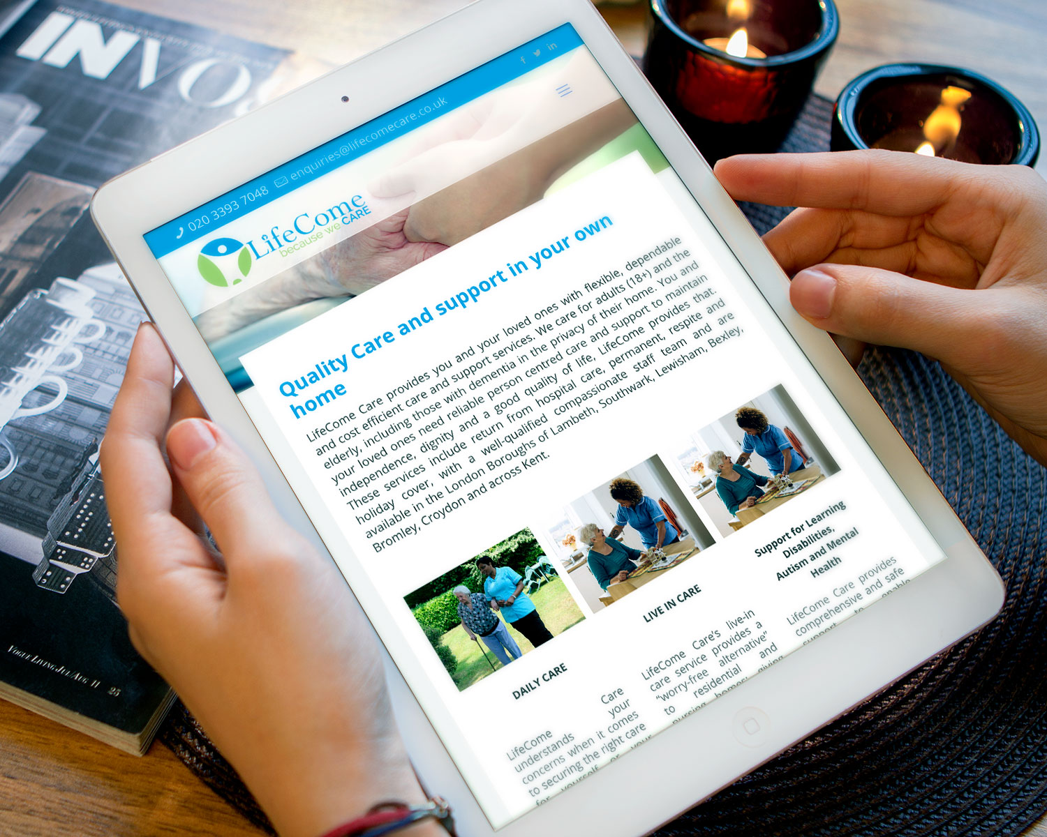 Web-Design-for-Lifecome-Care_ipad_-by-Three-Girls-Media