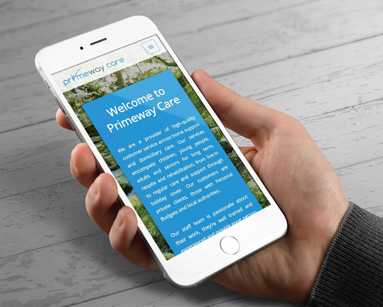 Web-Design-for-Primeway-Care_Three-Girls-Media_Iphone